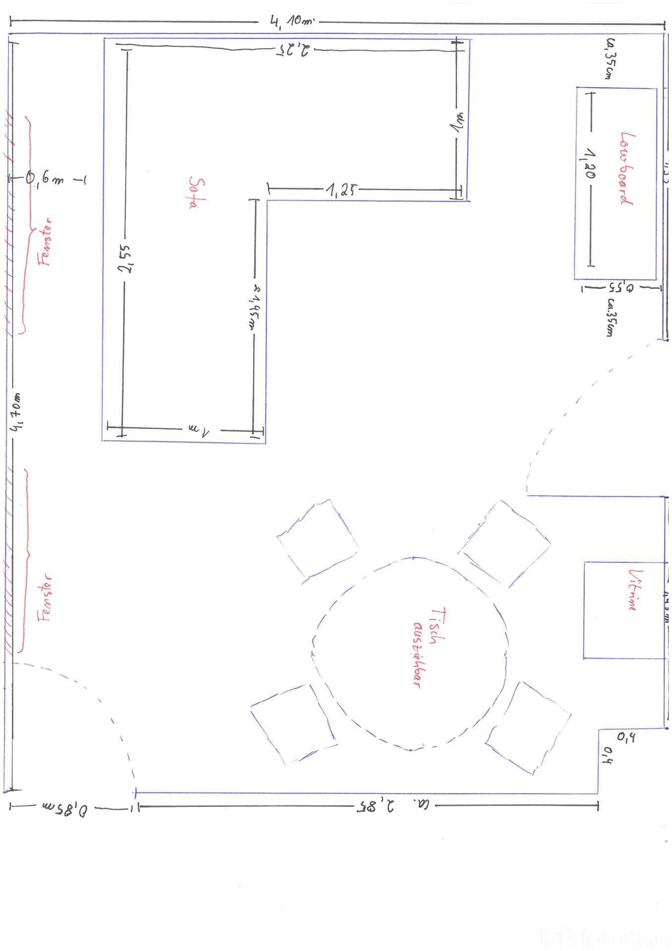 grundriss inklusive m bel akustik grundriss inklusive. Black Bedroom Furniture Sets. Home Design Ideas
