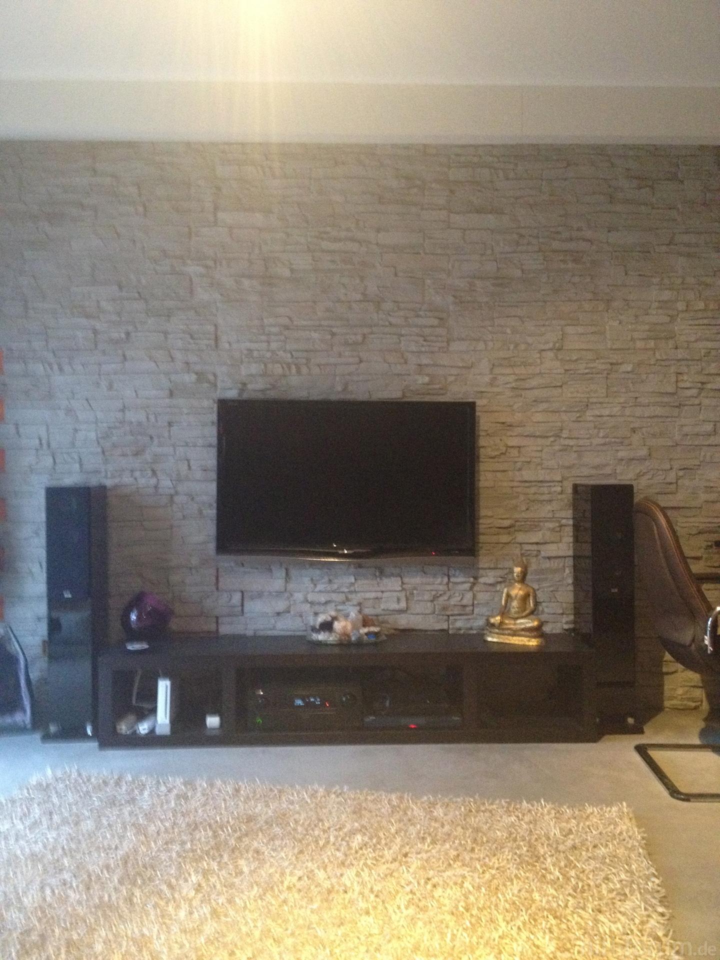 Steinwand imi beton beton imi steinwand hifi forum for Steinwand tv