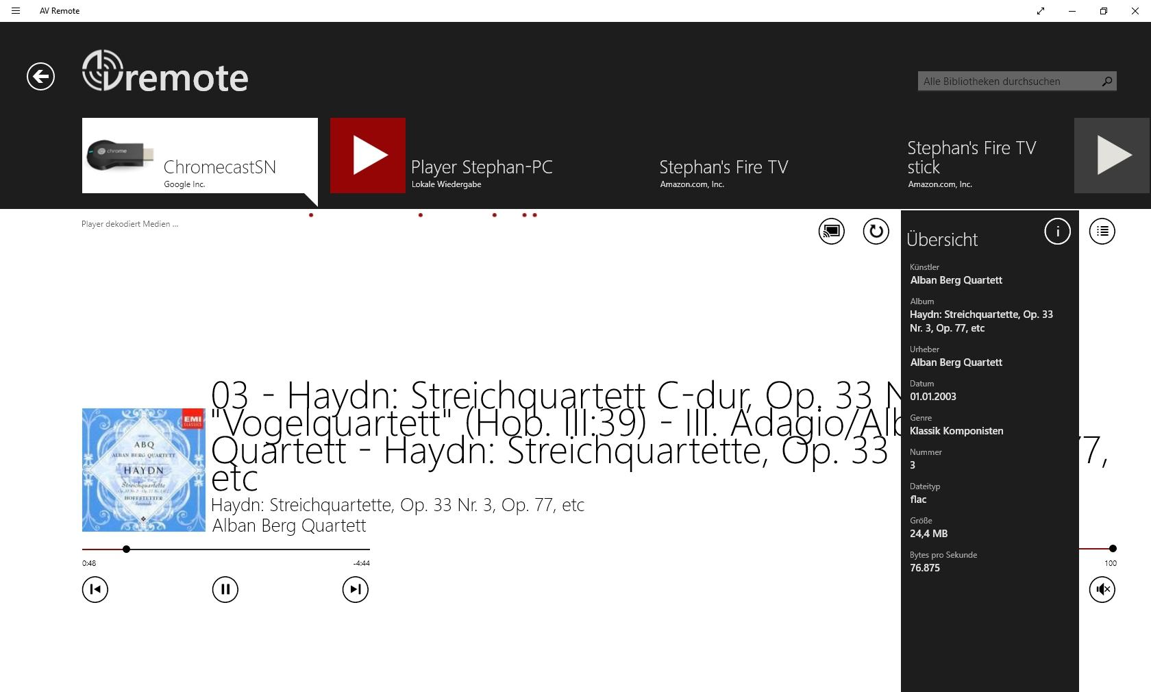 Chromecast Audio und AV Remote Windows 10   audio, av