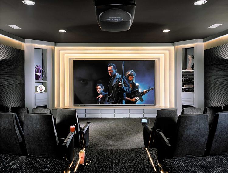 Heimkino Wohnzimmer Integrieren Kinosalon Einrichten ...