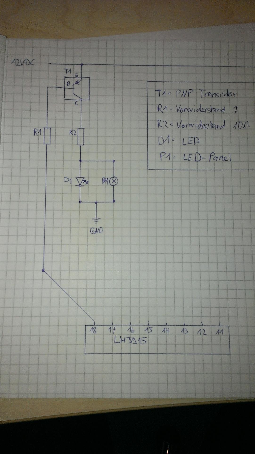 Schaltplan Vu Meter Doityourself Elektronik Vumeter Using A Lm3915 Circuit Diagram