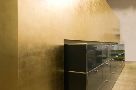 blattgold wand glas pendelleuchte modern. Black Bedroom Furniture Sets. Home Design Ideas