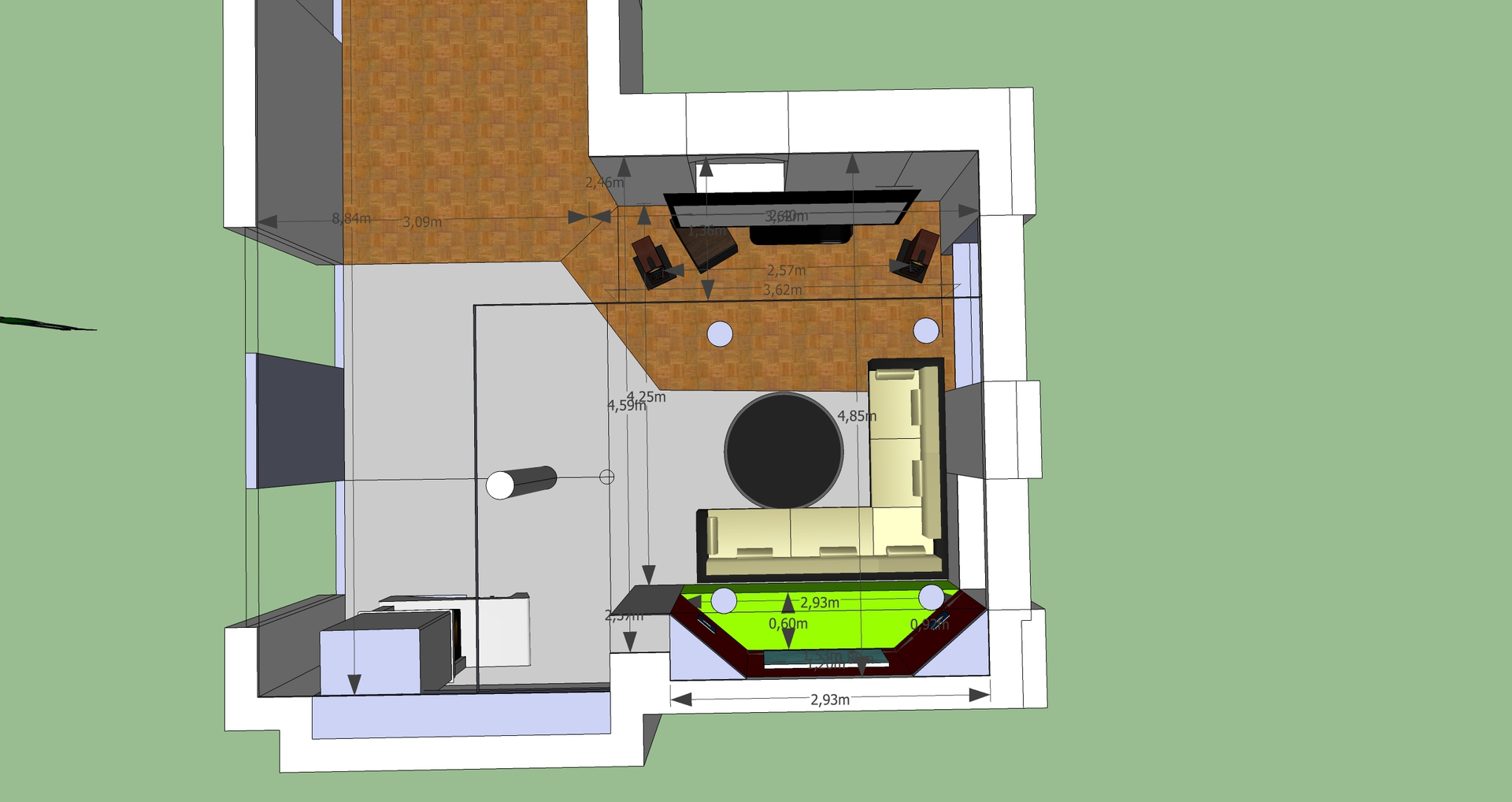 Wohnzimmer grundriss 2 11 heimkino lautsprecher - Wohnzimmer grundriss ...