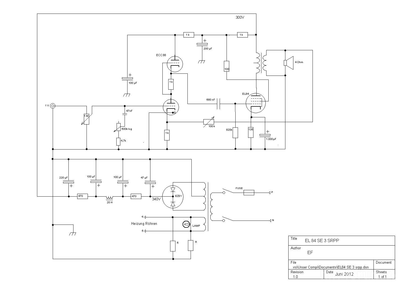 Doppeltrioden Welches System Fr Hohe Spannungen An Der Kathode The Fu29 Pushpull Circuit Amplifiercircuit Diagram El84 Se 3 Srpp