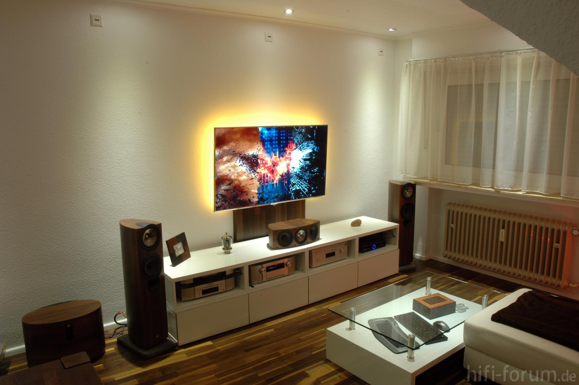 Mein wohnzimmer heimkino kef marantz samsung for Wohnzimmer 5 1
