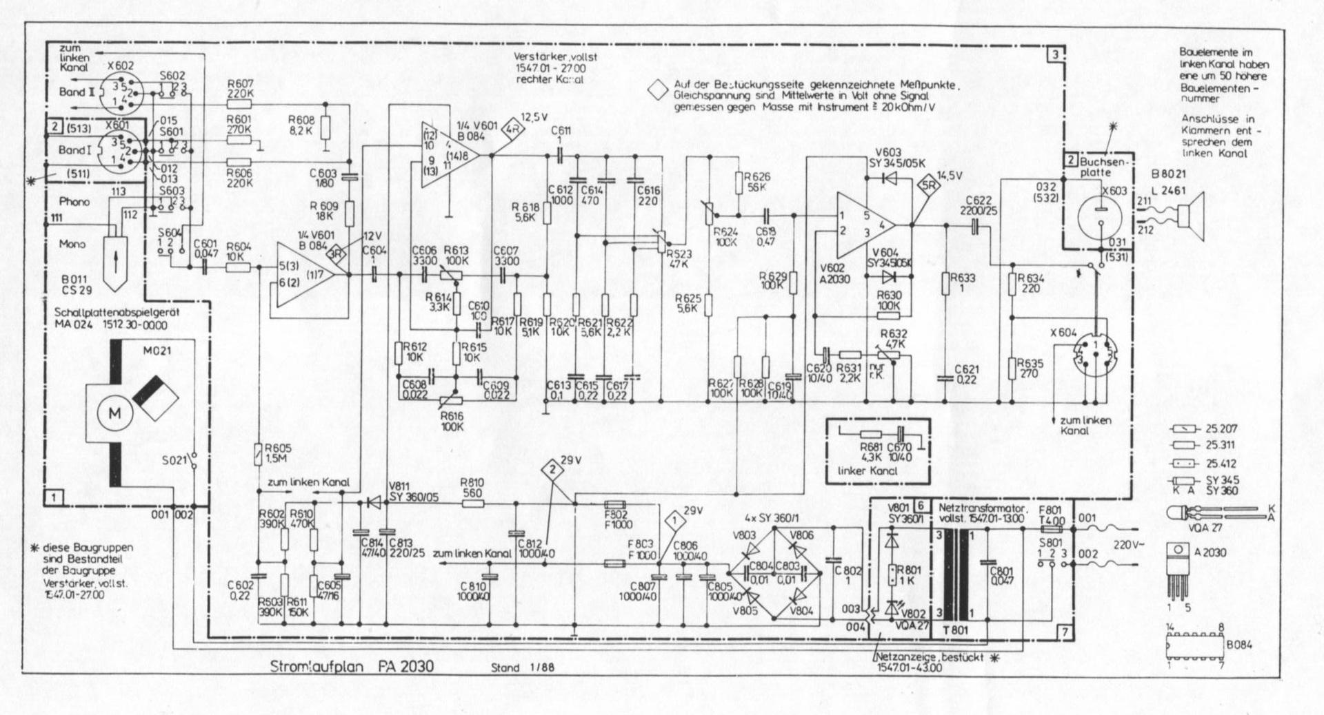 RFT PA 2030 - Verstärker defekt?, Hifi-Klassiker - HIFI-FORUM