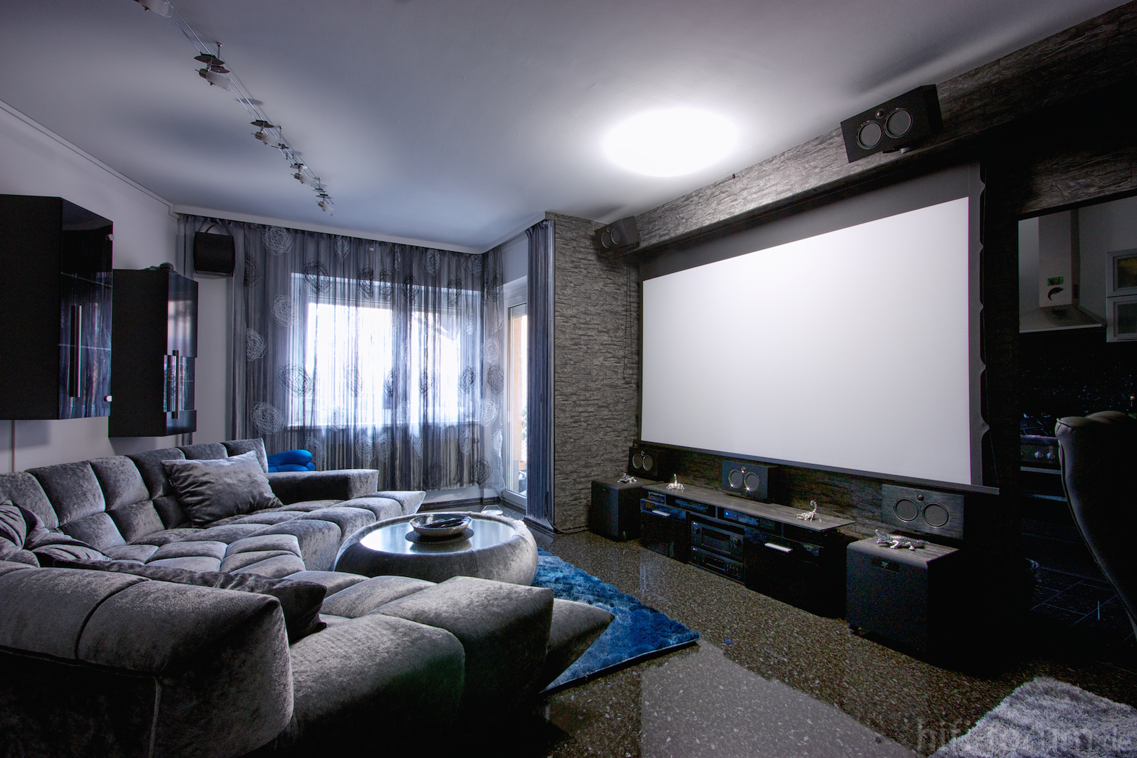 My hometheater aka living room - What size tv to get for living room ...