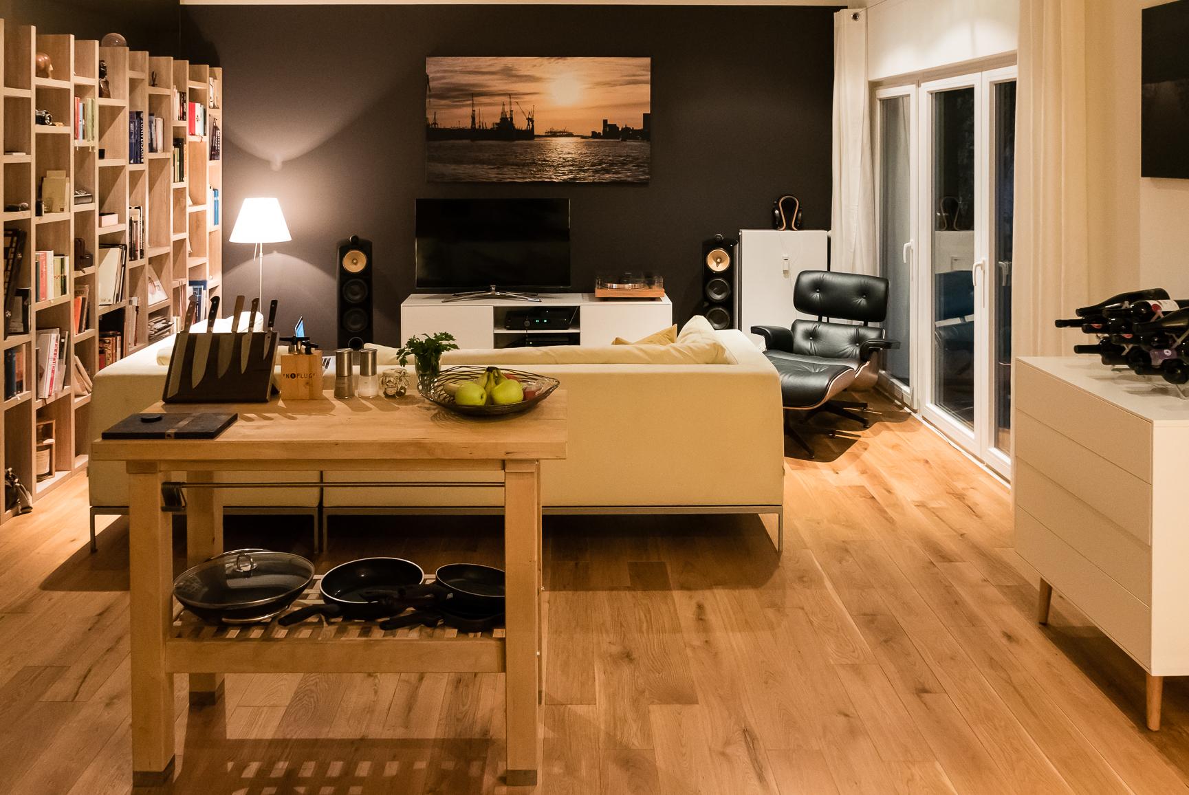Überblick Wohnzimmer, von Küche gesehen  küche ...