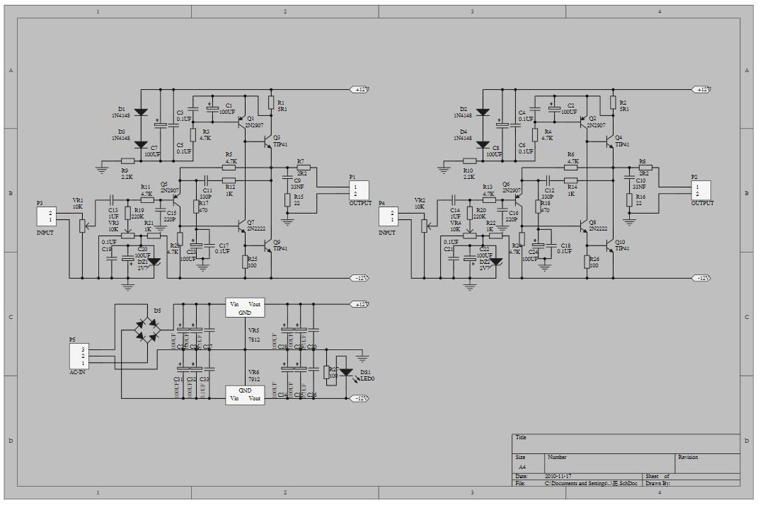 Schaltplan JHL Classs A Amplifier | amplifier, classs, doityourself ...