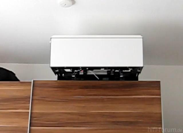diy tv lift auf schrank on cupboard f hrt nach vorne und. Black Bedroom Furniture Sets. Home Design Ideas