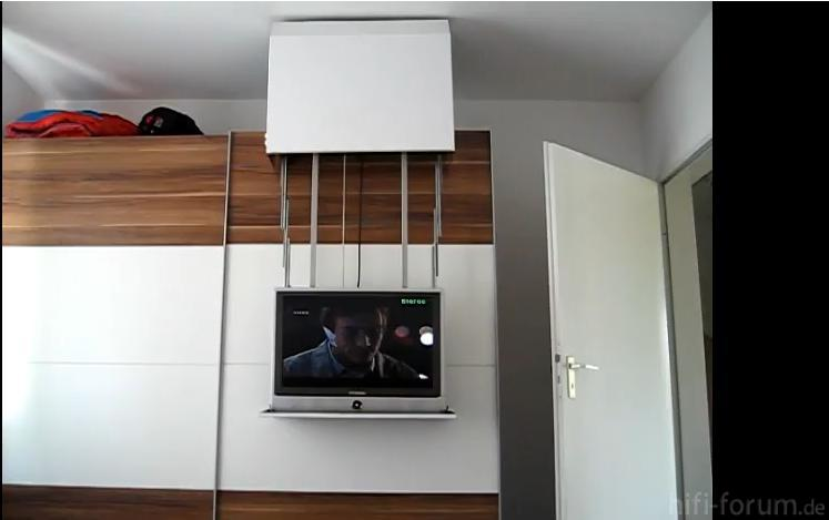 DIY TV Lift Auf Schrank On Cupboard Offen  cupboard, diy  ~ Tv Schrank Lift