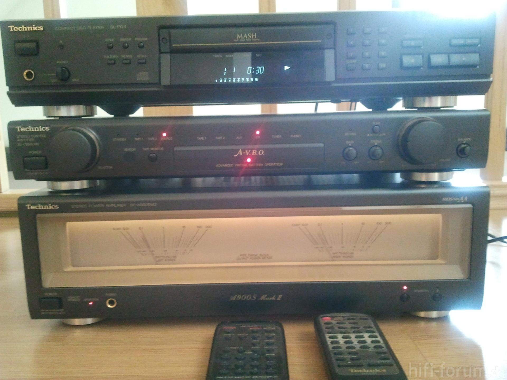 technics vor und endstufe cd player cd endstufe player technics hifi. Black Bedroom Furniture Sets. Home Design Ideas
