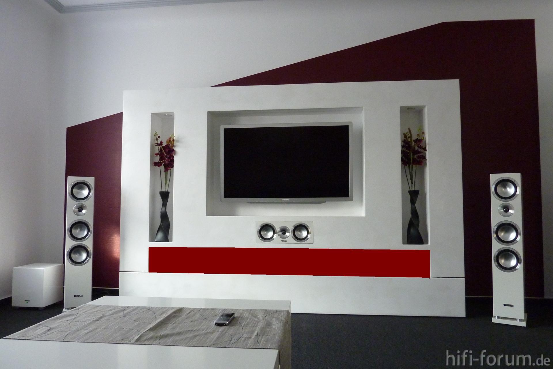 Tv wand selber bauen ideen  Bilder eurer Steinwände / Kiesbetten, Racks, Gehäuse - HIFI-FORUM ...