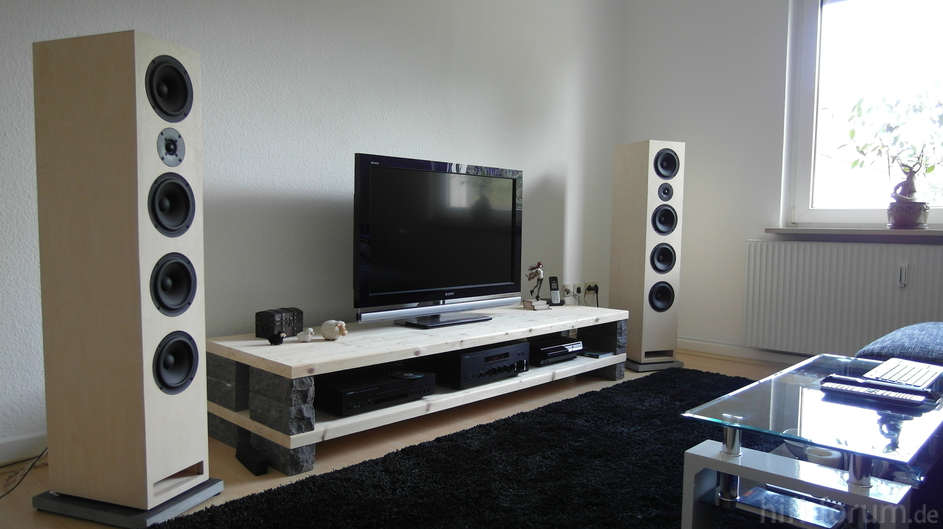 neues wohnzimmer mit sb417 und yamaha sb417 stereo. Black Bedroom Furniture Sets. Home Design Ideas
