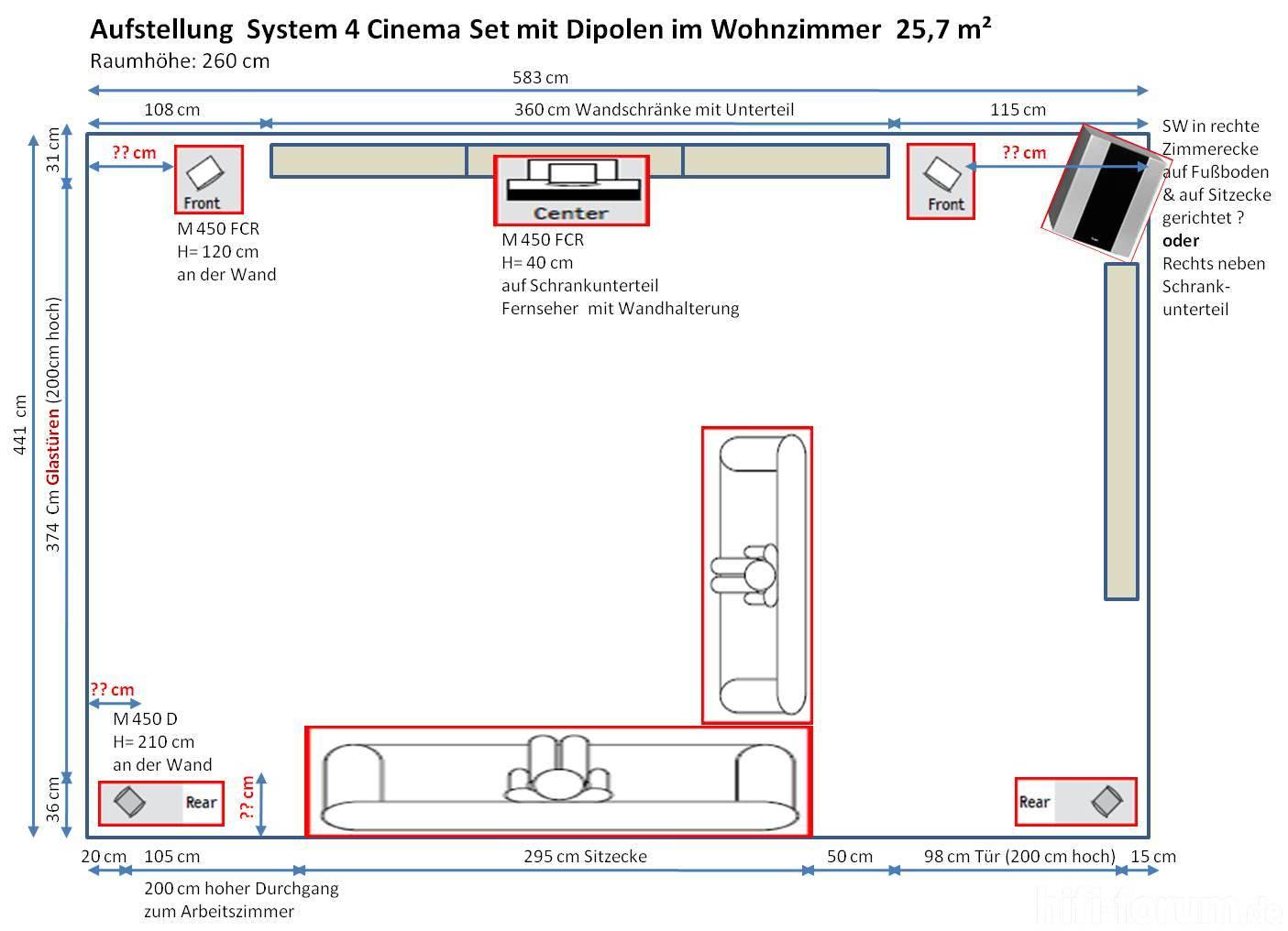 Wohnzimmer grundriss aufstellung boxen hifi for Wohnzimmer 5 1