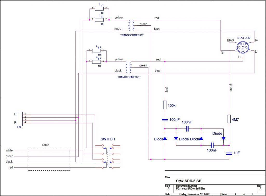 Stax SRD-6/SB Schaltplan | kopfhörer, schaltplan, stax, stereo ...