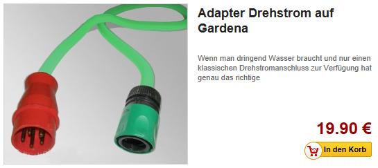 adapter drehstrom auf gardena adapter hifi. Black Bedroom Furniture Sets. Home Design Ideas