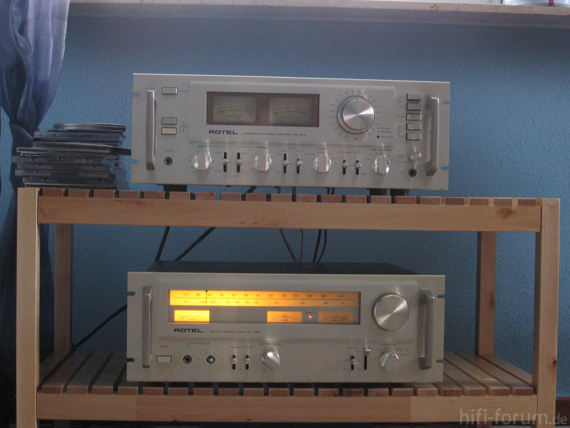 rotel ra 1312 und rt 1025 hifiklassiker ra rotel rt stereo hifi bildergalerie. Black Bedroom Furniture Sets. Home Design Ideas