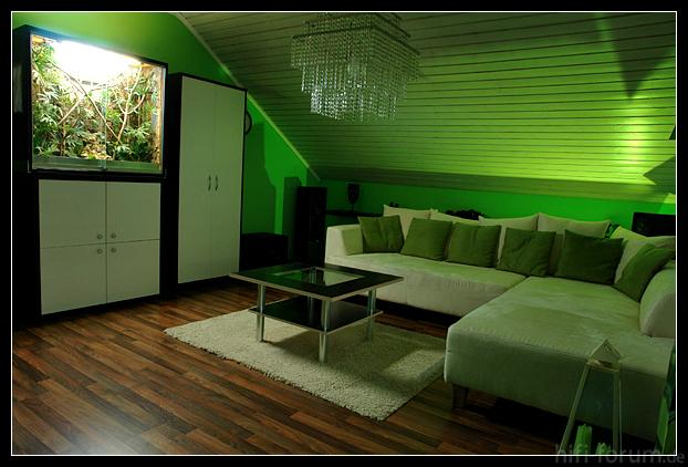 einfach nur gr n wohnkino gr n tv wohnkino hifi bildergalerie. Black Bedroom Furniture Sets. Home Design Ideas