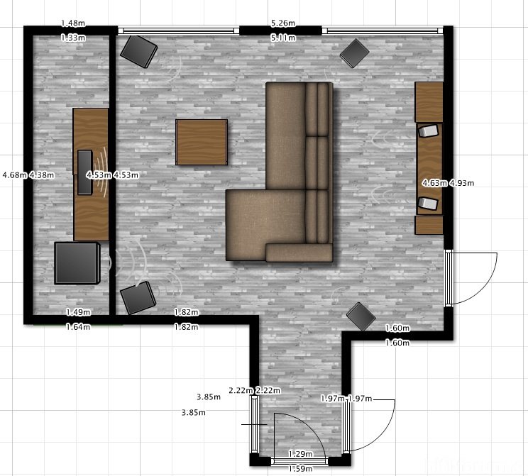Wohnzimmer plan akustik plan wohnzimmer hifi forum for Wohnzimmer 25 qm