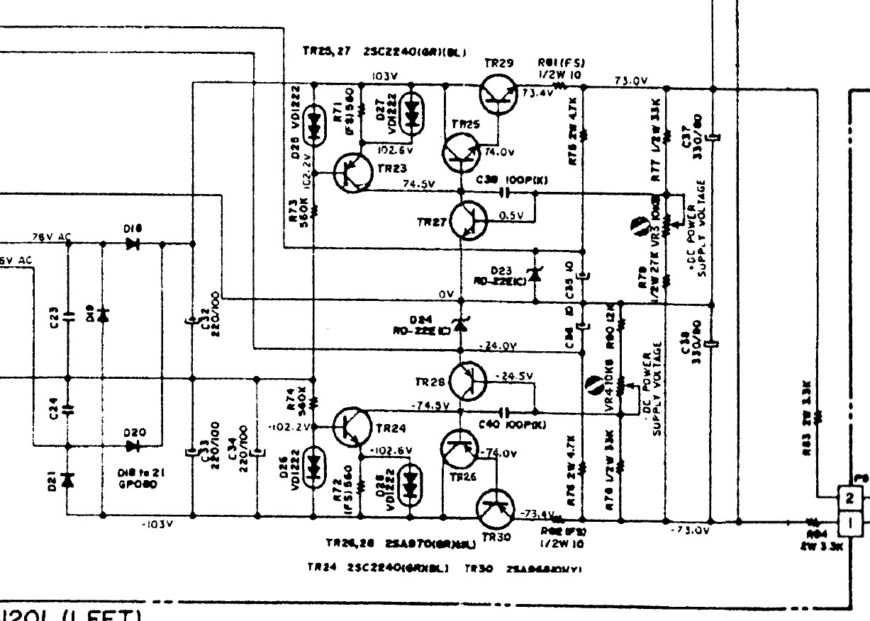 akai ps 200m schematic detail voltage regulator for vas