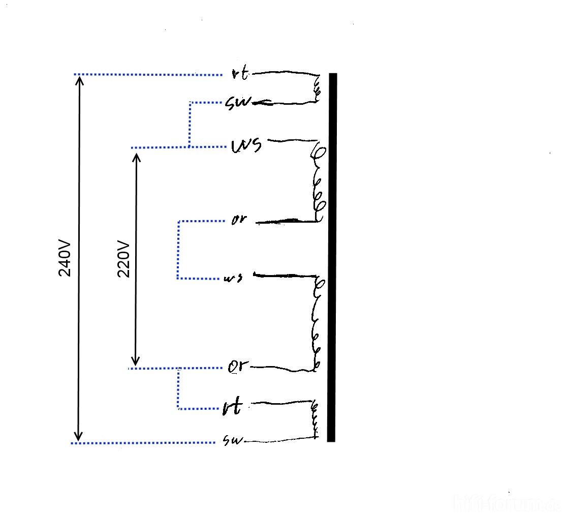 classe audio dr 8 schematic transformer assumed primary