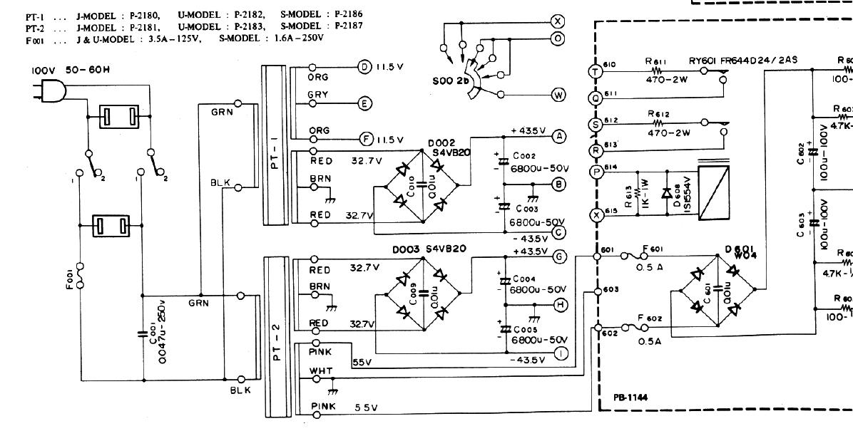 luxman l 10 schematic detail transformers 110v 220v 230v