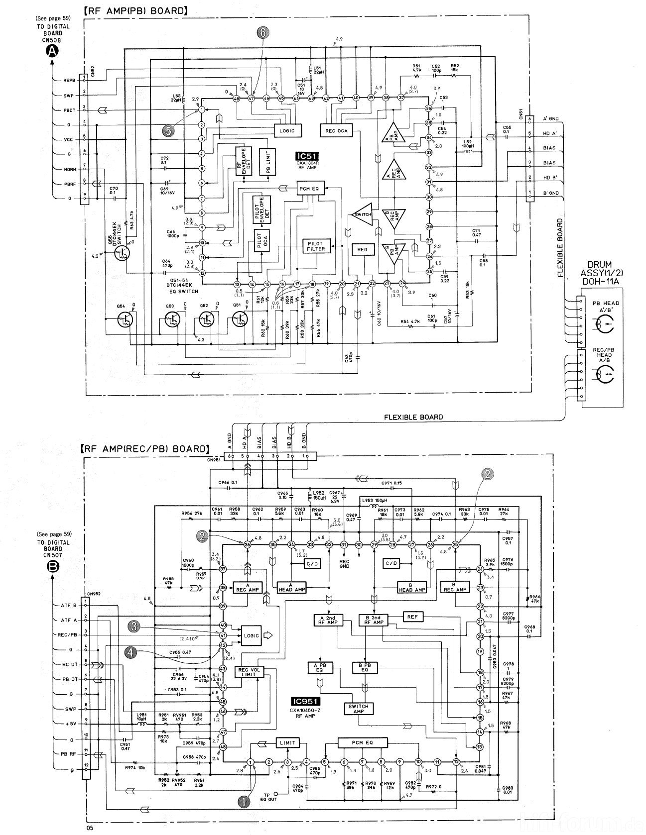 sony pcm 2700a schematic detail head amps