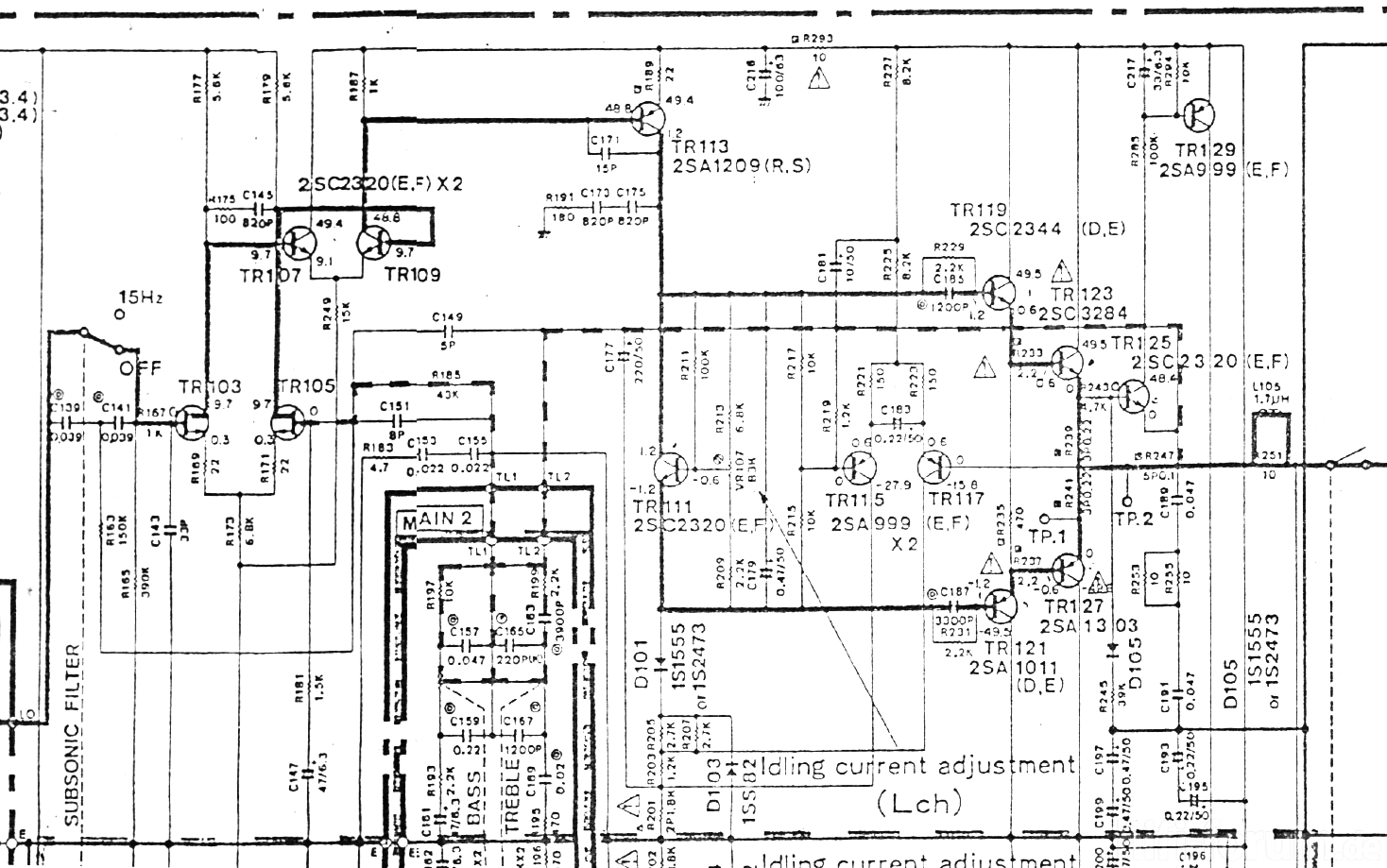 yamaha a 500 schematic detail power amplifier stage left channel_198474 2007 ford five hundred car stereo wiring diagram radiobuzz48 2007 ford focus stereo wiring diagram at alyssarenee.co
