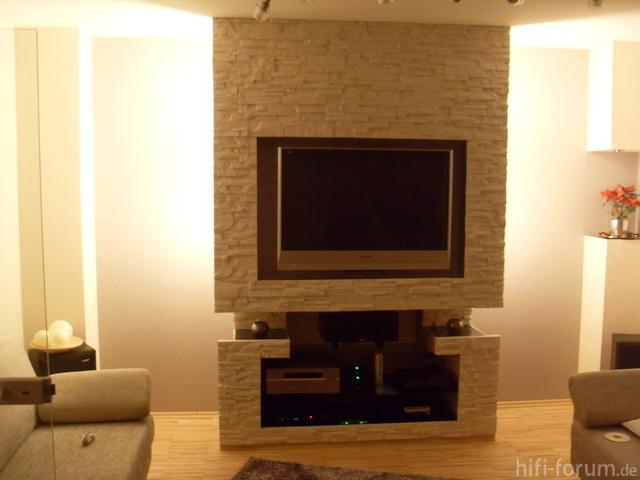 Tv Steinwand ~ Verschiedenes Interessantes Design Für Ein Zimmer, Wohnzimmer