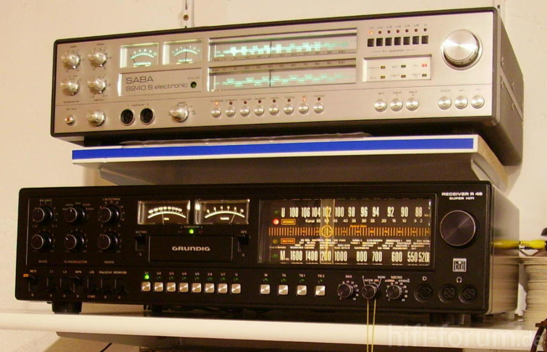 saba 9240s und grundig r45a 9240s grundig klassiker receiver saba stereo hifi. Black Bedroom Furniture Sets. Home Design Ideas