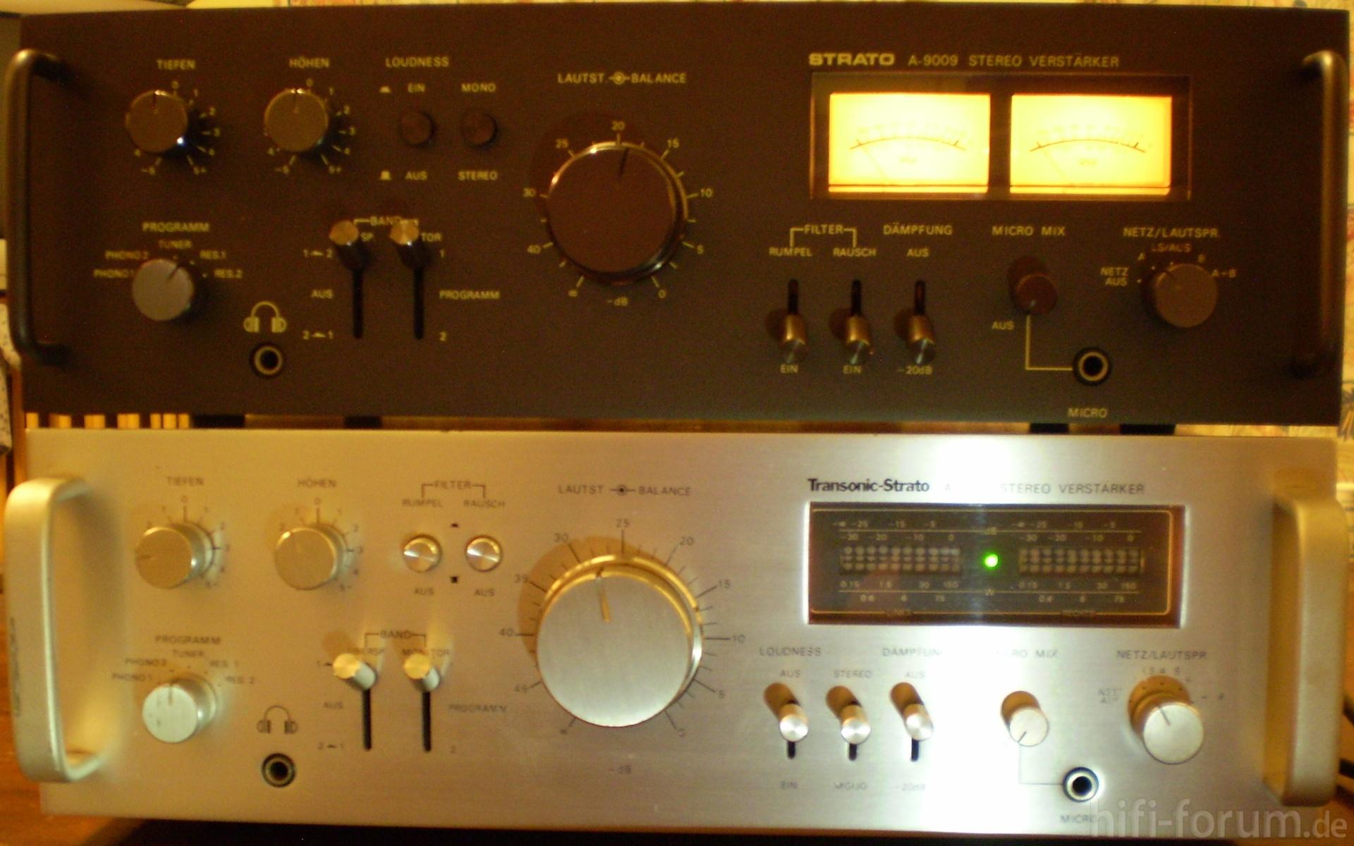 strato 9009 und transonic strato 1110 hifiklassiker stereo strato transonic. Black Bedroom Furniture Sets. Home Design Ideas