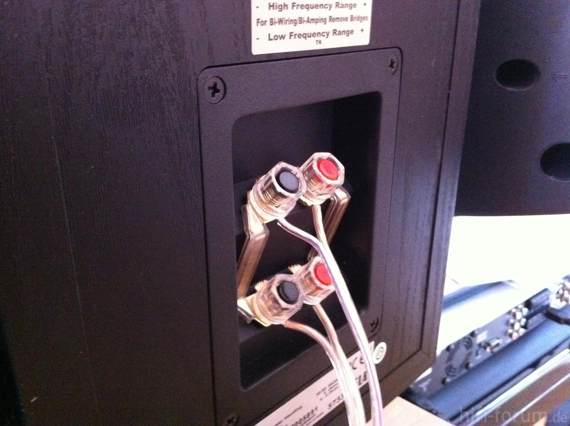 Fantastisch Box Lautsprecherkabel Anschlüsse Zeitgenössisch ...