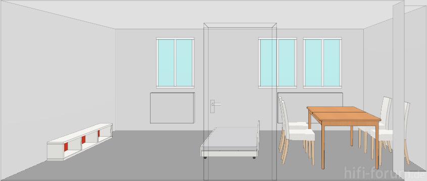 Wohnzimmer 3D Ansicht | 3d, ansicht, planung, wohnzimmer ...