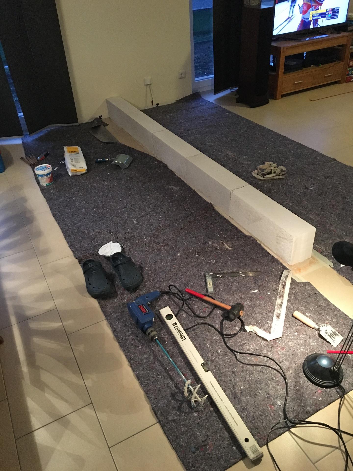 tv wand doityourself hifiwand laminatwand tvwand. Black Bedroom Furniture Sets. Home Design Ideas