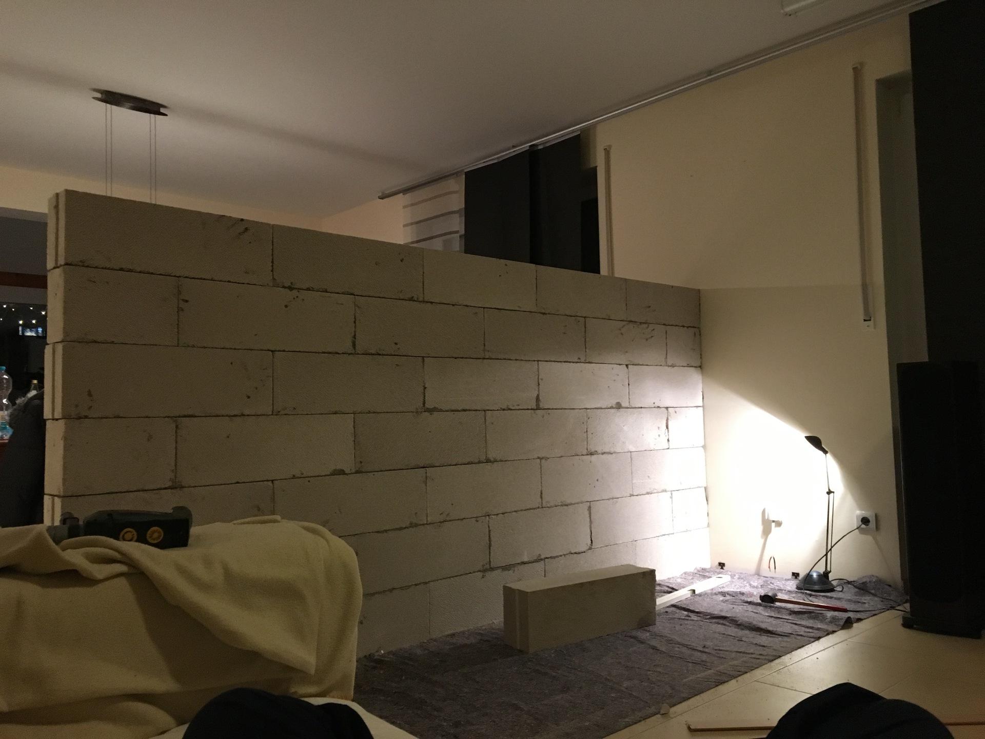 tv wand doityourself hifiwand laminatwand tvwand ytong hifi bildergalerie. Black Bedroom Furniture Sets. Home Design Ideas