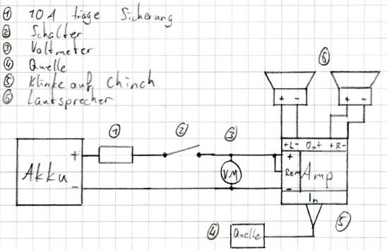 Einfacher Schaltplan mit Voltmeter | doityourself, einfacher ...