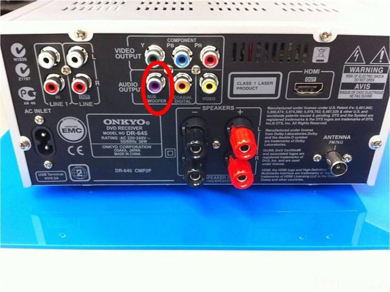 Anschluss | anschluss, cinch, lautsprecher, stereo, subwoofer | hifi ...