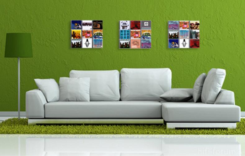 designer cd wandregale cd wall square hinterm sofa cdwall cdwallcdwandcdstoragecddisplaycd. Black Bedroom Furniture Sets. Home Design Ideas