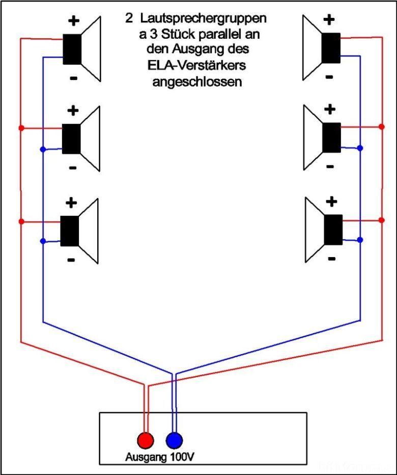 Probleme mit 100V ELA-Anlage, Lautsprecher - HIFI-FORUM