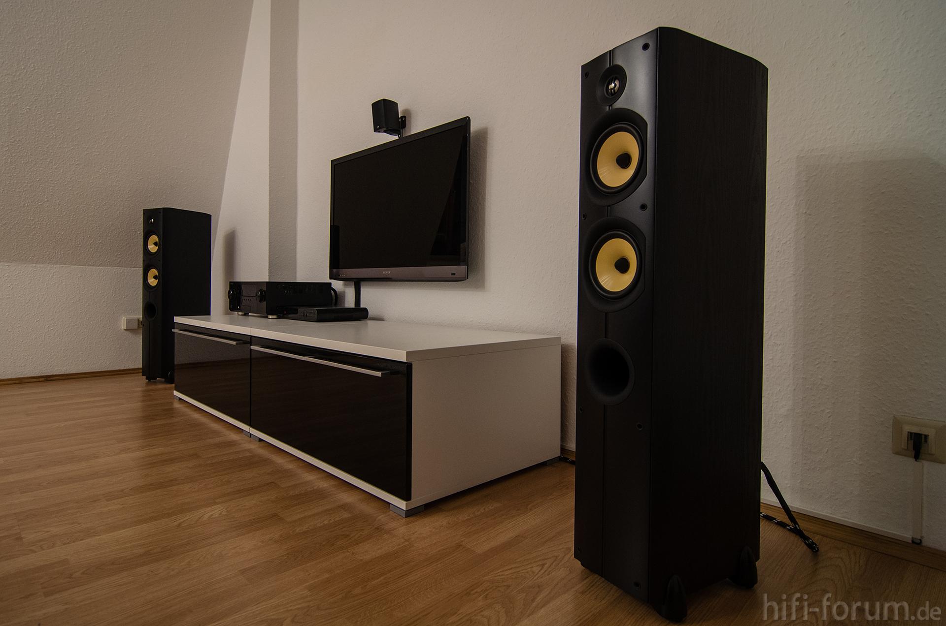wohnzimmer mit lautsprechern 2 lautsprechern psb t5 wohnzimmer hifi bildergalerie. Black Bedroom Furniture Sets. Home Design Ideas