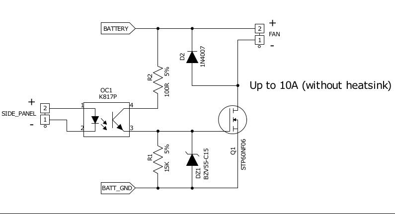 Lüfter statt LED - Mosconi AS Endstufen Schaltplan | anschluss, as ...