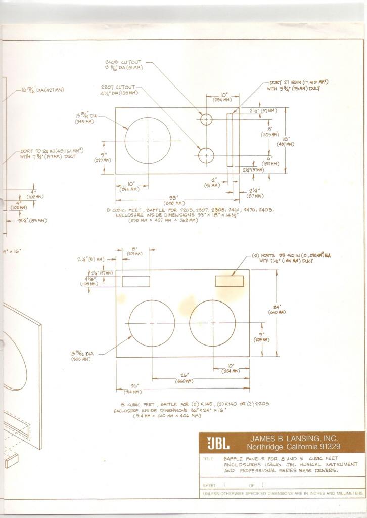 JBL 4508 Plan 1 | hifiklassiker, jbl, plan, stereo | hifi