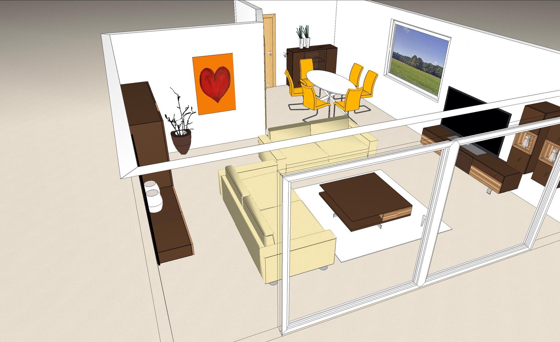 Wohnzimmer Raumplanung 1