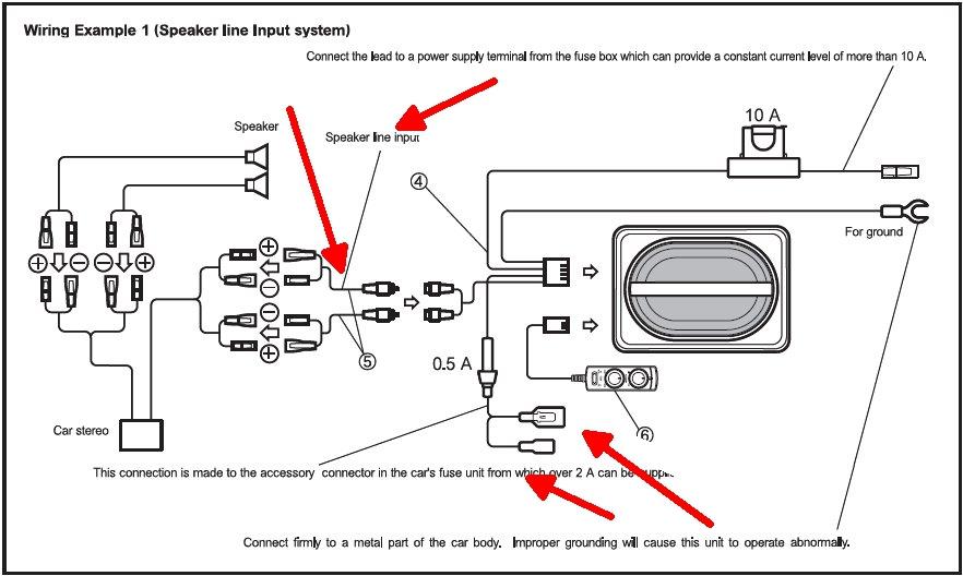PROBLEM Aktiv Subwoofer Werksradio High-level-input, Car-Hifi ...