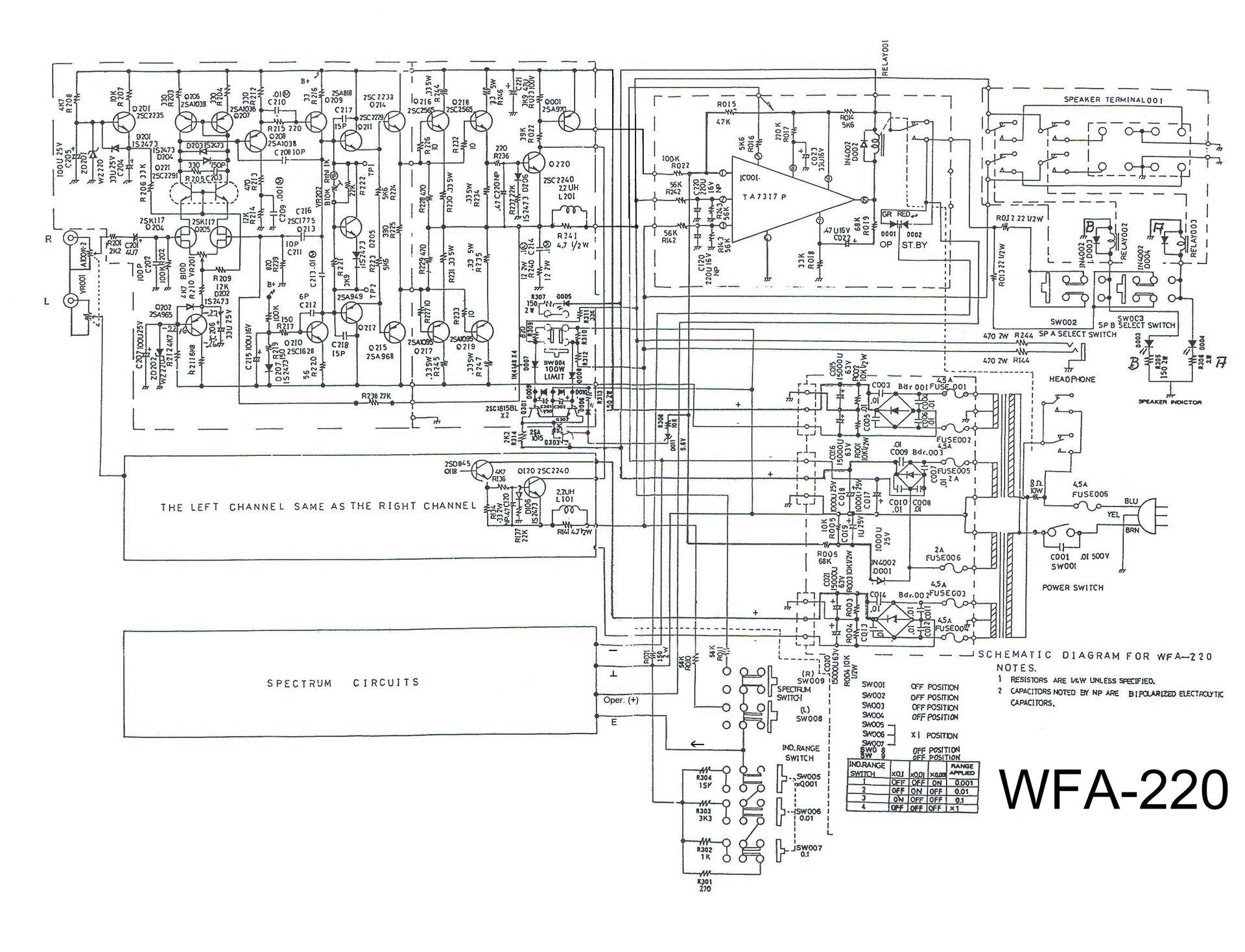 WFA-220 Schaltung | hifiklassiker, schaltung, stereo, wfa220 | hifi ...