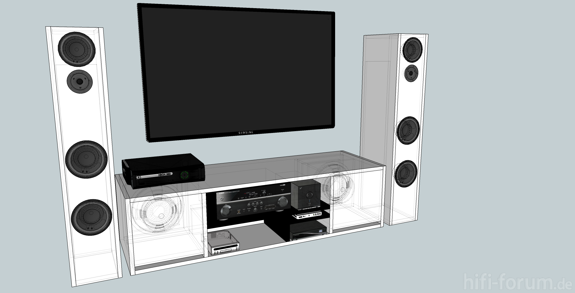 tv schrankinklsubwoofer doityourself lautsprecher tv hifi bildergalerie. Black Bedroom Furniture Sets. Home Design Ideas