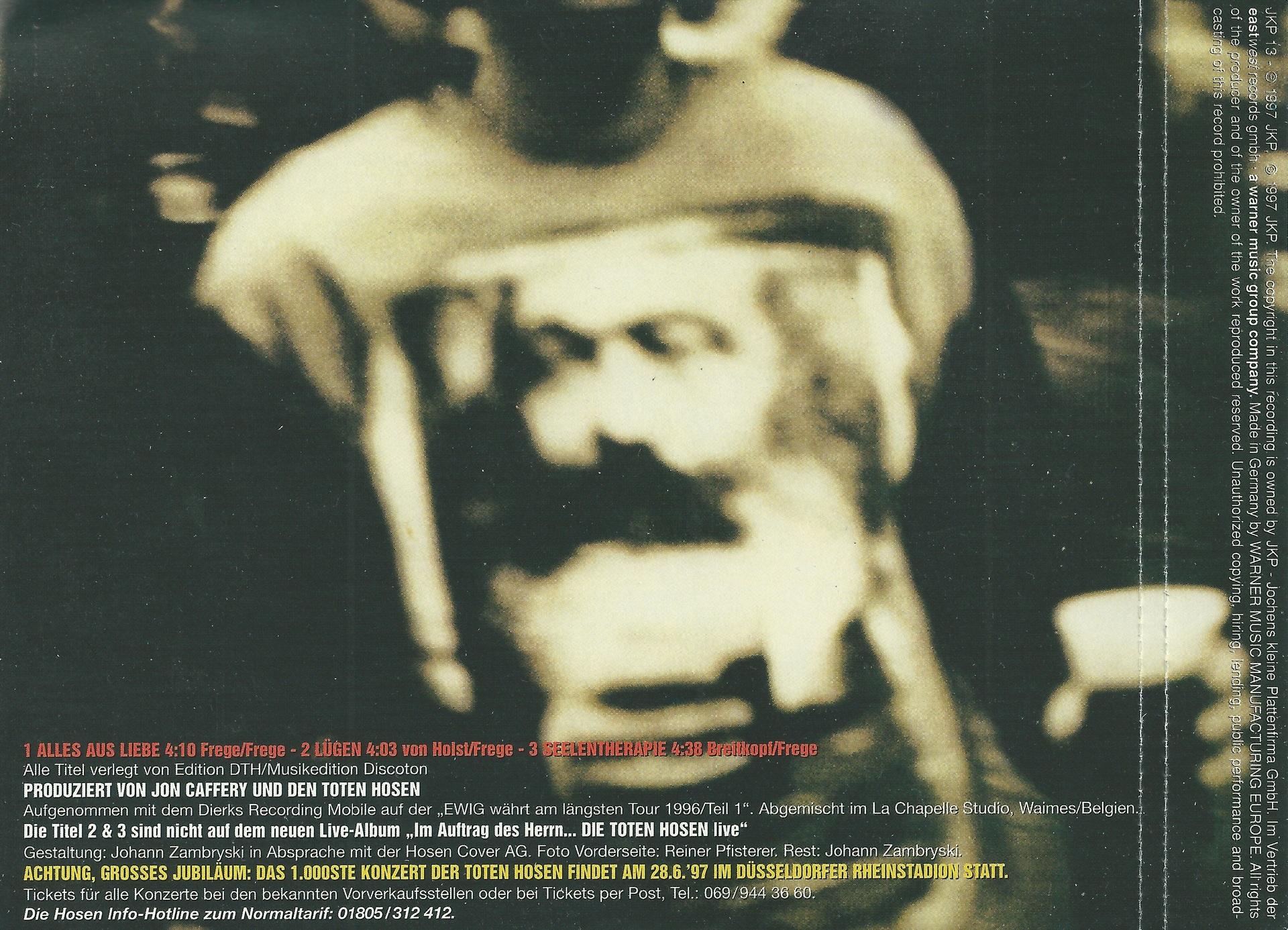 Cd Cover Die Toten Hosen Alles Aus Liebe Live 2 Cdcover