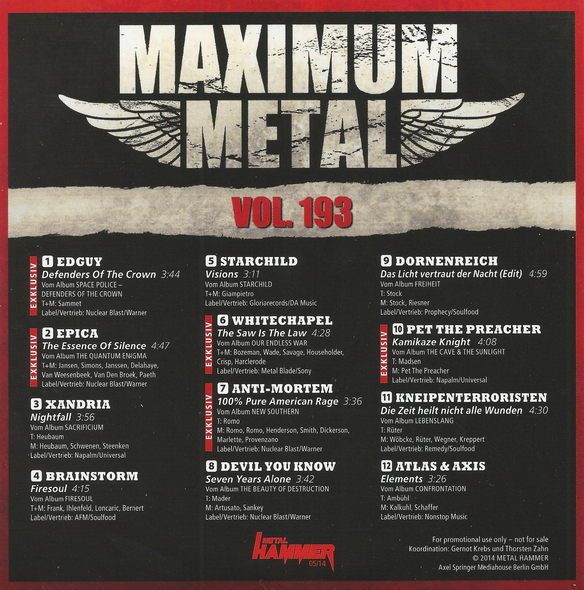 Various - Maximum Metal Vol. 136