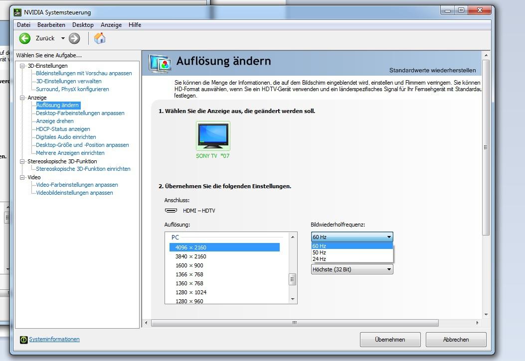 nvidia systemsteuerung